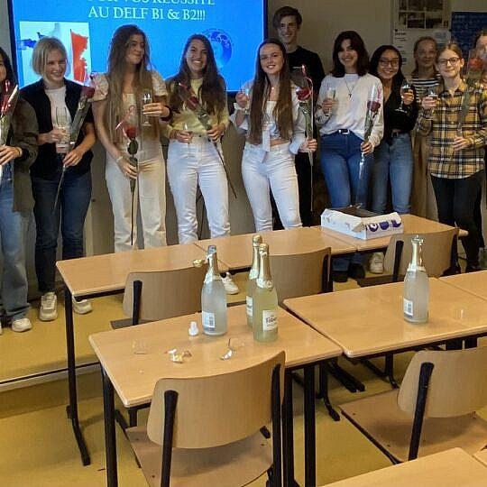 Alle deelnemers DELF-examen geslaagd!