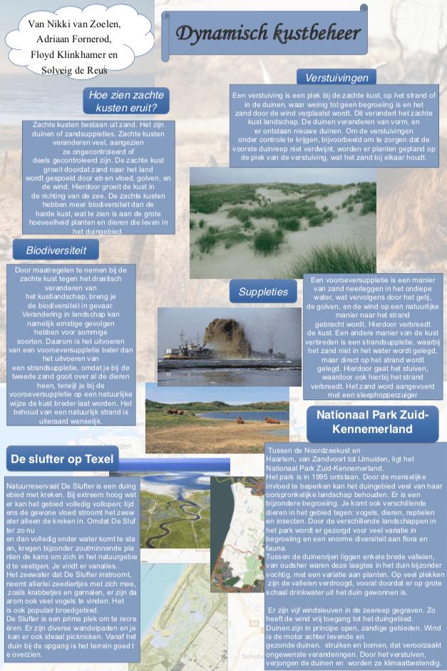 poster dynamisch kustbeheer