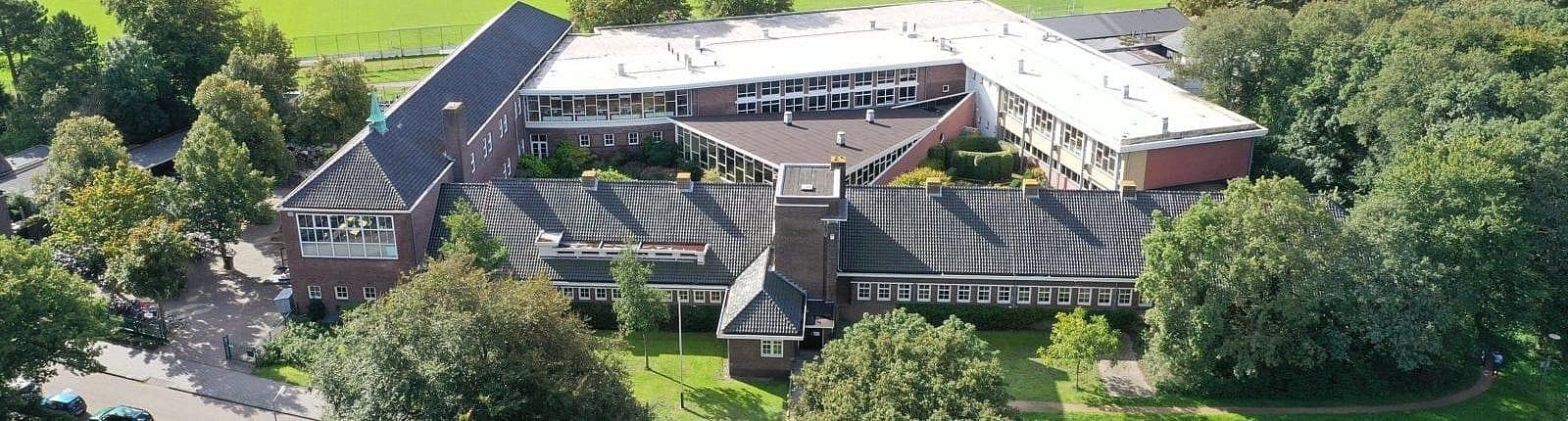 header luchtfoto gymnasium felisenum gebouw